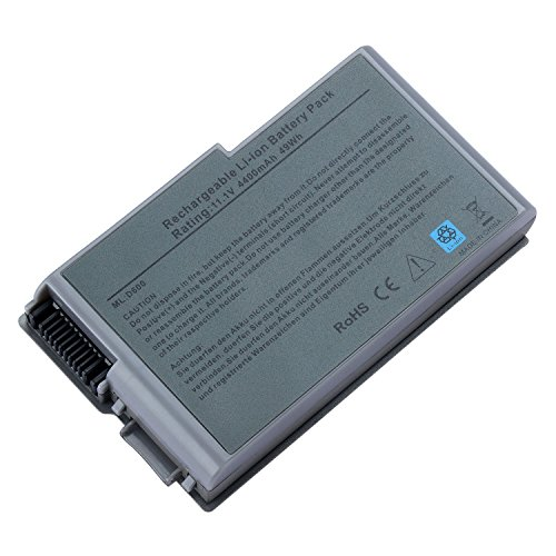 TAUPO New Laptop Battery Replacement for Dell Latitude D600 D610 D520 D510 D530 D505 D500 Inspiron 600M, fits P/N 6Y270 3R305 C1295[6-Cell,11.1V] - 12 Months Warranty ()