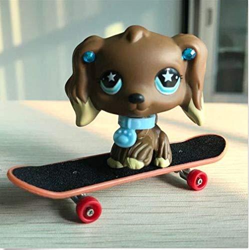 Pet Shops Littlest LPS Cocker Spaniel Dog #960 + Accessories Skateboard