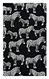 Zebras Cotton Waitstaff Organizer, Guest Check Presenter, Check Book Holder for Restaurant, Checkbook Cover, Check Accessories Server Book for Waiters / With Plastic Cover