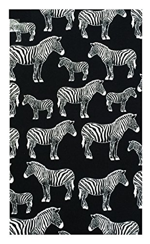 Zebras Cotton Waitstaff Organizer, Guest Check Presenter, Check Book Holder for Restaurant, Checkbook Cover, Check Accessories Server Book for Waiters / With Plastic Cover by Kathy