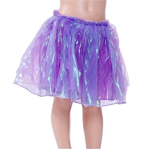 neon sottoveste Chiffon anni danza per bambina bambina Balletto viola Blu fluo danza Gonna classica 5 Mini Rosa per 8 classica wBpZnAIq