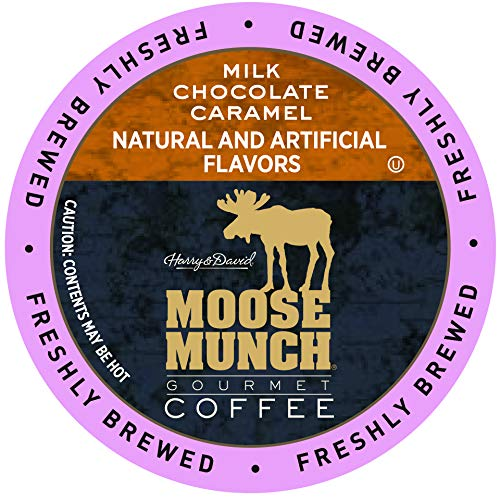Moose Munch Coffee in Single Serve Cups for use with all Keurig K-Cups Brewers 36 Count (Milk Chocolate Caramel) ()