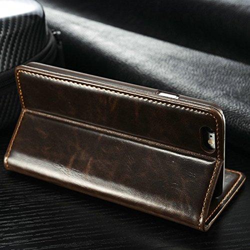 Mobilefox Flip Case Schutzhülle Portemonnaie Apple iPhone 7 Plus Braun