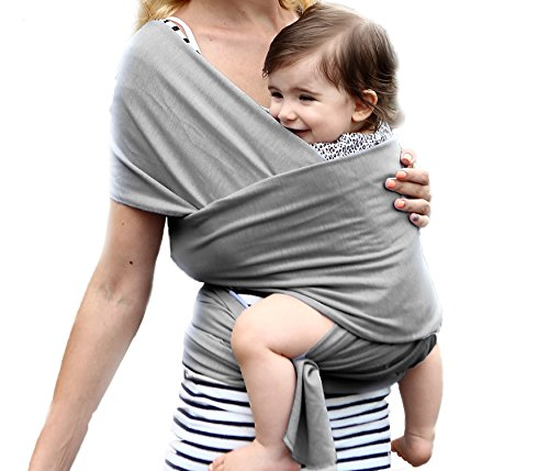 X-CHENG Baby wrap - Comfortable Cotton Baby Wrap Carrier Designed for Newborns to 35lbs - Natural Cotton Nursing Baby Sling - Best Baby Shower Gift (Grey)(Comes with a manual)