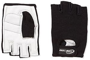 Best Body Nutrition Handschuhe Paar 246791, Gr. Medium, Schwarz/Weiß