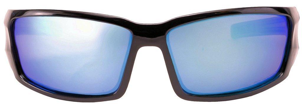 HZ Séries Hyperbull - Lunettes de soleil Polarized Premium de Hornz – Cadre blanc mat – Lunette de miroir bleu Nh8mghQC