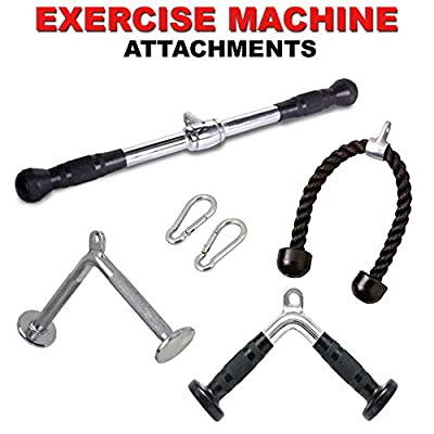 FITNESS MANIAC Strength Training Gym Accessories Home Gym Cable Attachments Exercise Machine Equipment Pull Press Down Accessory