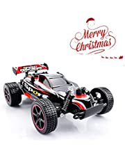 RC Car QZT Coche Off-Road de Radio Control RC Alta Velocidad ,1/20,Impermeable,2WD,2.4Ghz (20 Km/h) Color Rojo