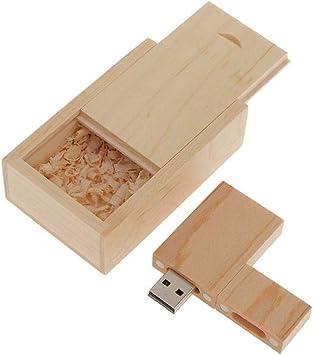 Memoria USB 2.0 Unidad Flash USB Forma Rectangular de Madera Arce con Caja de Madera Regalo Creativo: Amazon.es: Electrónica