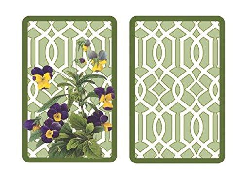 Caskata Studios Contact Bridge Game, Set of 2 Playing Card Decks, Trellis (Company Floral Trellis)