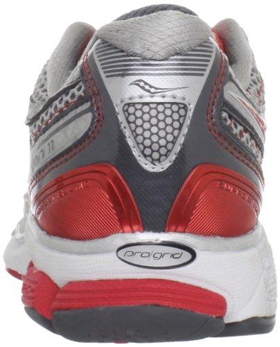 Running Scarpa da Grid 11 Donna Pro Red SAUCONY Grey Silver Omni PqwYg7WI