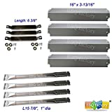 bbq factory® Replacement Charbroil BBQ Gas Grill Burners, Crossover Tubes and, Heat Plates