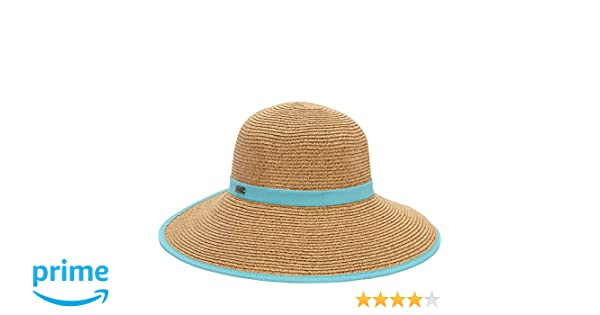 0cc46edb2af Amazon.com  Sun N Sand French Laundry Packable Hat (Turquoise)  Clothing