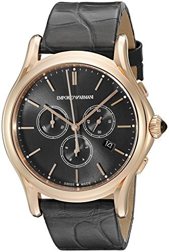 Emporio-Armani-Swiss-Made-Mens-ARS4003-Analog-Display-Swiss-Quartz-Grey-Watch
