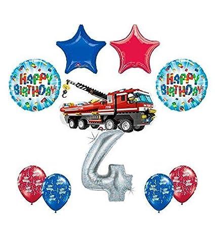 Amazon 10 Pc LEGO CITY Fire Engine Firetruck 4th Birthday