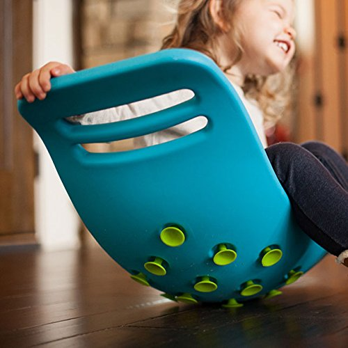 Fat Brain Toys Teeter Popper with Handles, Plastic Concave Balance Board for Children, Green by Fat Brain (Image #2)