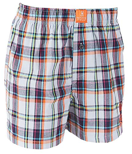 - Psycho Bunny Men's Woven Boxer Shorts (Aruba Madras, X-Large)