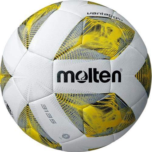 Molten F5A3135-Y – Balón de fútbol, Color Blanco, Amarillo y Plateado