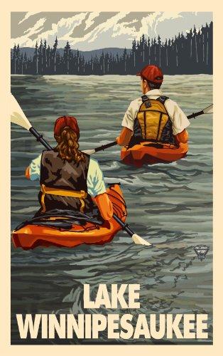 Northwest Art Mall New Hampshire Kayak Lake Winnipesaukee Wall Artwork by Paul A. Lanquist, 11 by - Mall Of New Hampshire