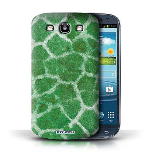 Etui / Coque pour Samsung Galaxy S3/SIII / Vert conception / Collection de Girafe animale Peau/Motif