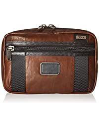Tumi Alpha Bravo Leather Riley Kit, Dark Brown