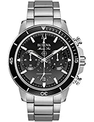 Bulova Mens 45mm Marine Star Stainless Steel Chronograph Bracelet Watch