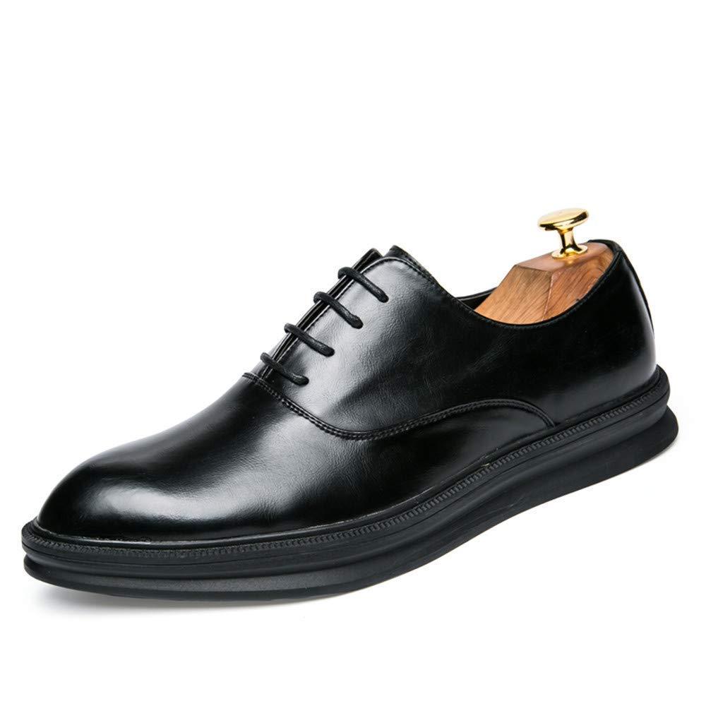 2018 Geschäft Oxford-Schuhe der Männer, beiläufige Art- und Weiseklassiker-Retro- Farben-Kontrast-Bequeme draußen Formale Schuhe (Farbe   Schwarz, Größe   38 EU) ( Farbe   Schwarz , Größe   38 EU )