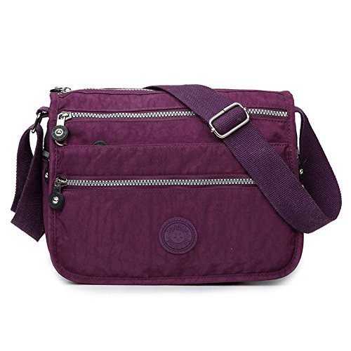 Sunray-buy Bag, Nylon, Womens, Waterproof, Shoulder Strap, Shoulder Type, Casual, Purple Cross