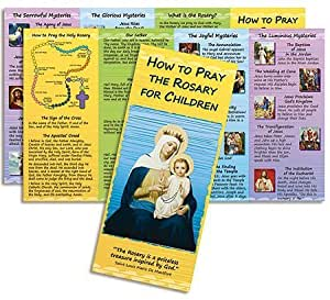 Religious Gift How to Pray the Rosary for Children Educational Guide Pamphlet