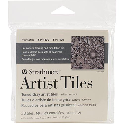 Strathmore 105-978-1 Artist Tile Pack, Toned Gray - Tiles Artist 4x4