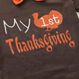 4PCS Baby Boys Girls My 1ST Thanksgiving Outfit Set