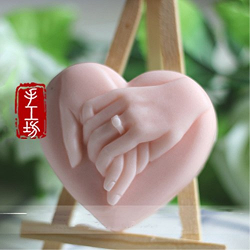 Grainrain Heart Wedding Silicone Soap Bar Mold Candle Mold DIY Craft Plaster Resin Mold for Lover -