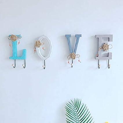 Amazon.com: RXIN Coat Hooks Creative Wooden American Home Love