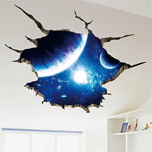 YJYDADA Wall Stickers,3D DIY Family Home Wall Sticker Removable Mural Decals Vinyl Art Room Decor,90x60cm (B) ()