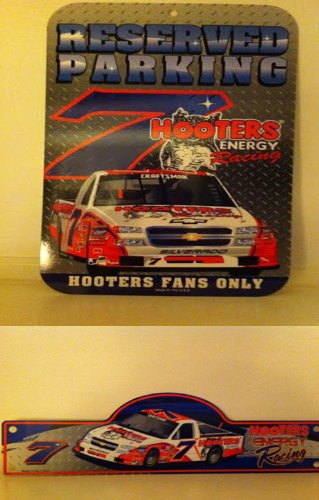 Parking Nascar Sign (NASCAR #7 Hooters Collectible Parking Sign & Road Sign - Nascar Collectible - Hooters Energy -)