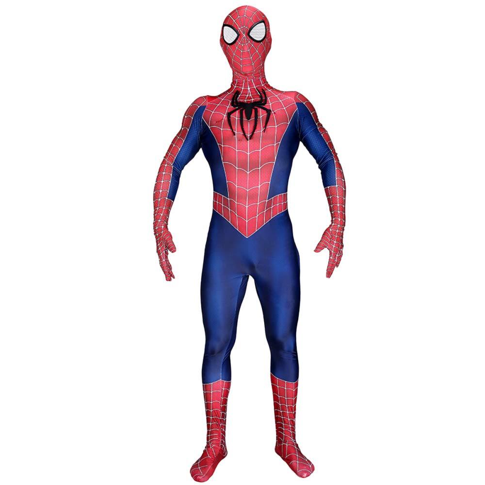 XINFUKL Spiderman Kostüm Make-up Cosplay Halloween Strumpfhosen Filmrequisiten,A-L