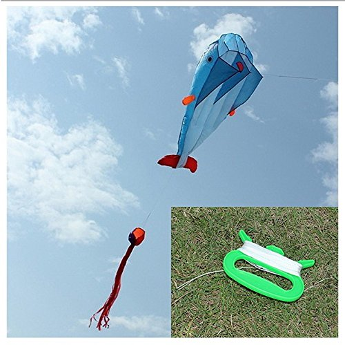 Anna And Elsa Diy Costumes (Outdoor Entertainment Kites 3d Huge Parafoil Giant Dolphin Blue Kites)