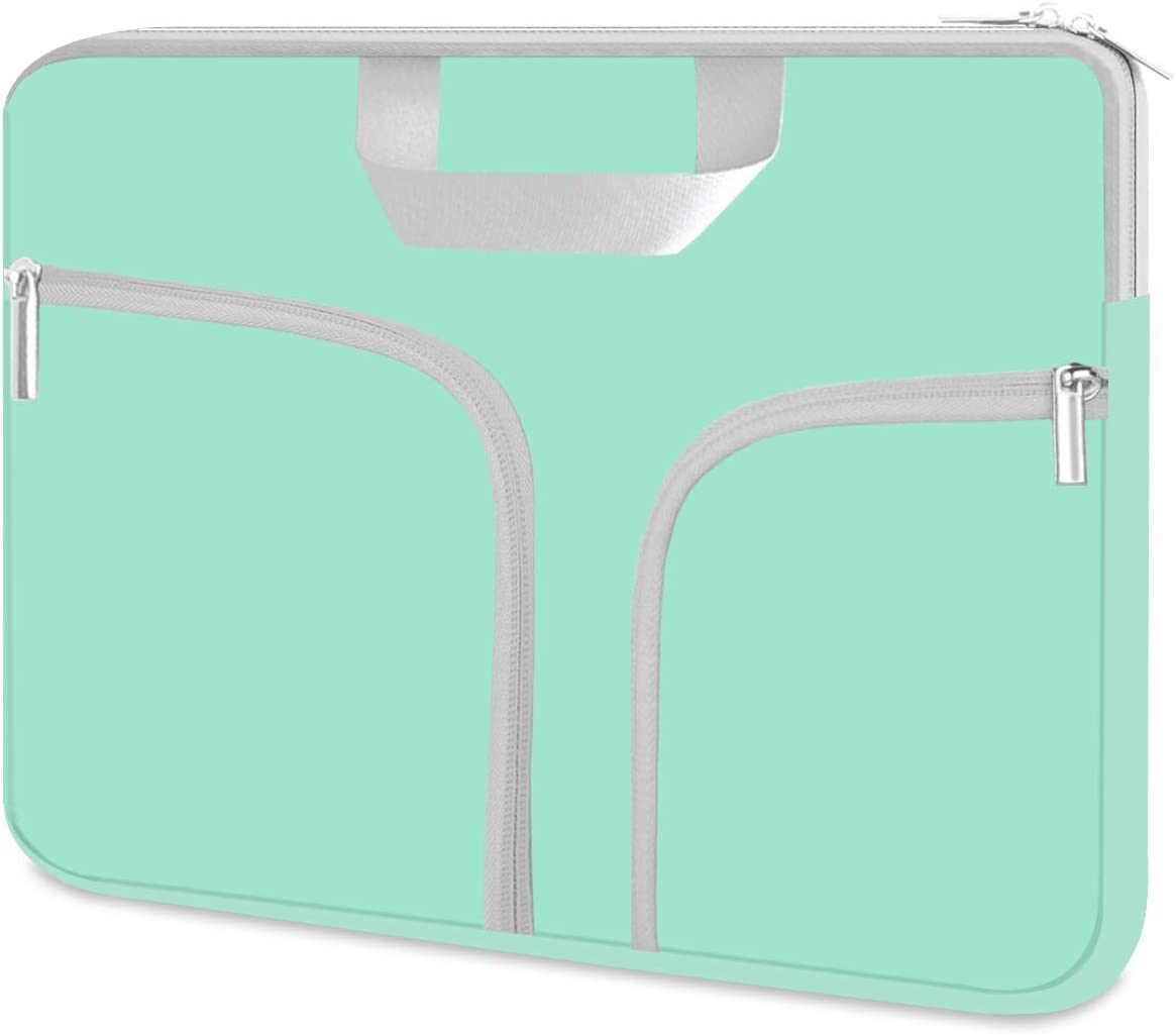"HESTECH Chromebook Case 14 inch,Ultrabook Notebook Carrying Handbag Protective Sleeve Bag for MacBook Pro 16"" 15.4"" /14""-15.6"" Dell Lenovo HP Asus Acer Samsung Sony Computer Laptop,Mint Green"