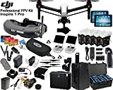 "DJI Inspire 1 Pro Quadcopter and FPV ""Eagle Eye"" Package: Includes 2 Controllers, 2 Apple iPads, FATSHARK AttitudeV3 FPV Goggles, Osmo Handle Kit, 4x TB48 Batteries and more..."