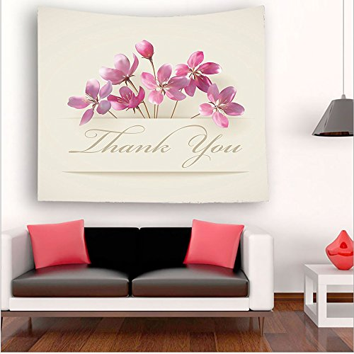 Nalahome-ollection Spring Flowers and Floral Thank You Gifts for Anniversary Teachers Design Accessories Pink tapestry psychedelic wall art tapestry hanging 51W x 51L Inches 43.3W x 43.3L Inches