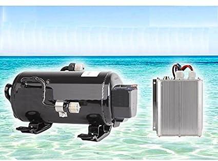 GOWE DC 72 V Velocidad variable aire acondicionado kit compresor de refrigeración para los coches eléctricos