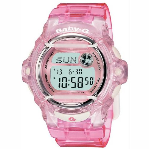 Casio Women's Digital Watch with Resin Strap BG-169R-4ER