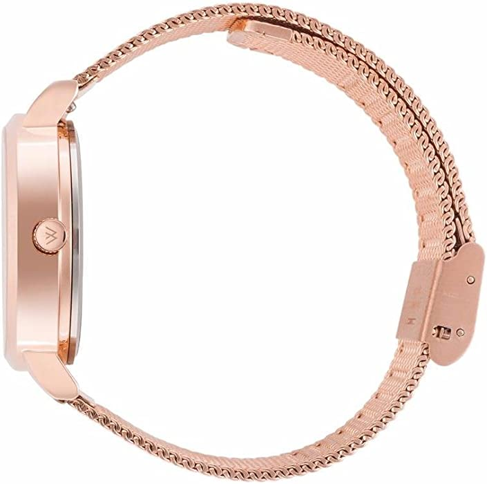 f96a762d45d WRISTOLOGY Charlotte Womens Watch Rose Gold Numbers Metal Mesh Ladies  Changeable Strap Band