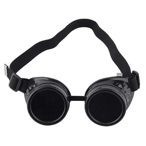 Delicacydex Gafas Profesionales Cyber Gafas Steampunk Vintage Soldadura Punk gótico Victoriano Deportes al Aire