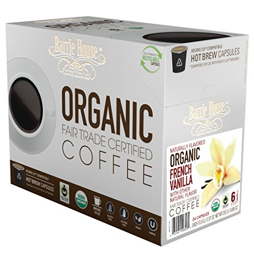 Barrie House Fair Trade Organic French Vanilla Single Serve Capsules (24 Capsules)