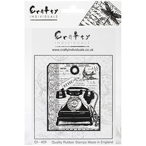 Crafty Individuals Unmounted Rubber Stamp 4.75-inch x 7-inch-Chunky Vintage Telephone Tag by Crafty Individuals