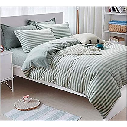 Image of HUROohj Cotton,The New Bedding Four Sets,European Style,Bedding Kits( 4 Pcs) for Bed Size Twin/Queen/King,-Queen Home and Kitchen