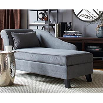 Storage chaise lounge chair this microfiber upholstered lounger is perfect for your for Microfiber accent chairs living room