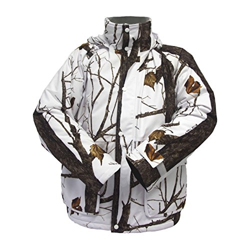 (Wildfowler Outfitter Men's Insulated Parka, Wild Tree Snow, Large)