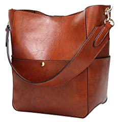 """Material: Outside:high quality PU leatherInternal Structure: 1 big inner compartment Style:Fashion Size:Approx.9.84'L*12.2'H*6.3'W""""/25*16*31CM Size may be 2cm/1inch in accuracy due to manual measurement Versatile Occasion:Working Place, Busin..."""